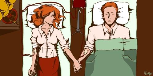 Lutece - Blood Transfusion by EscargotLuverz courtesy: Deviant Art