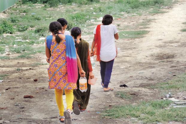 Around 65% of the rural population in India defecates in the open. Photo: Nitin Kumar Gupta/NavShrishti NGO