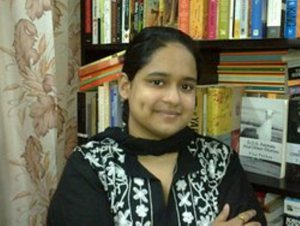 Fiza Pathan, author of The Flame Always Burns