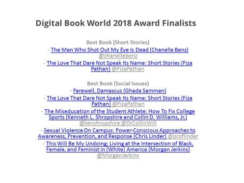Digital Book World 2018 Award Finalists